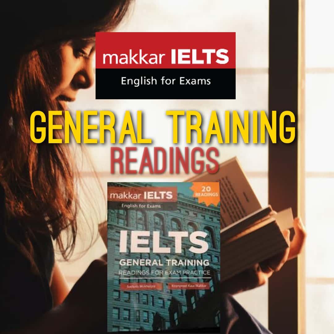 Makkar IELTS general training readings: Download pdf