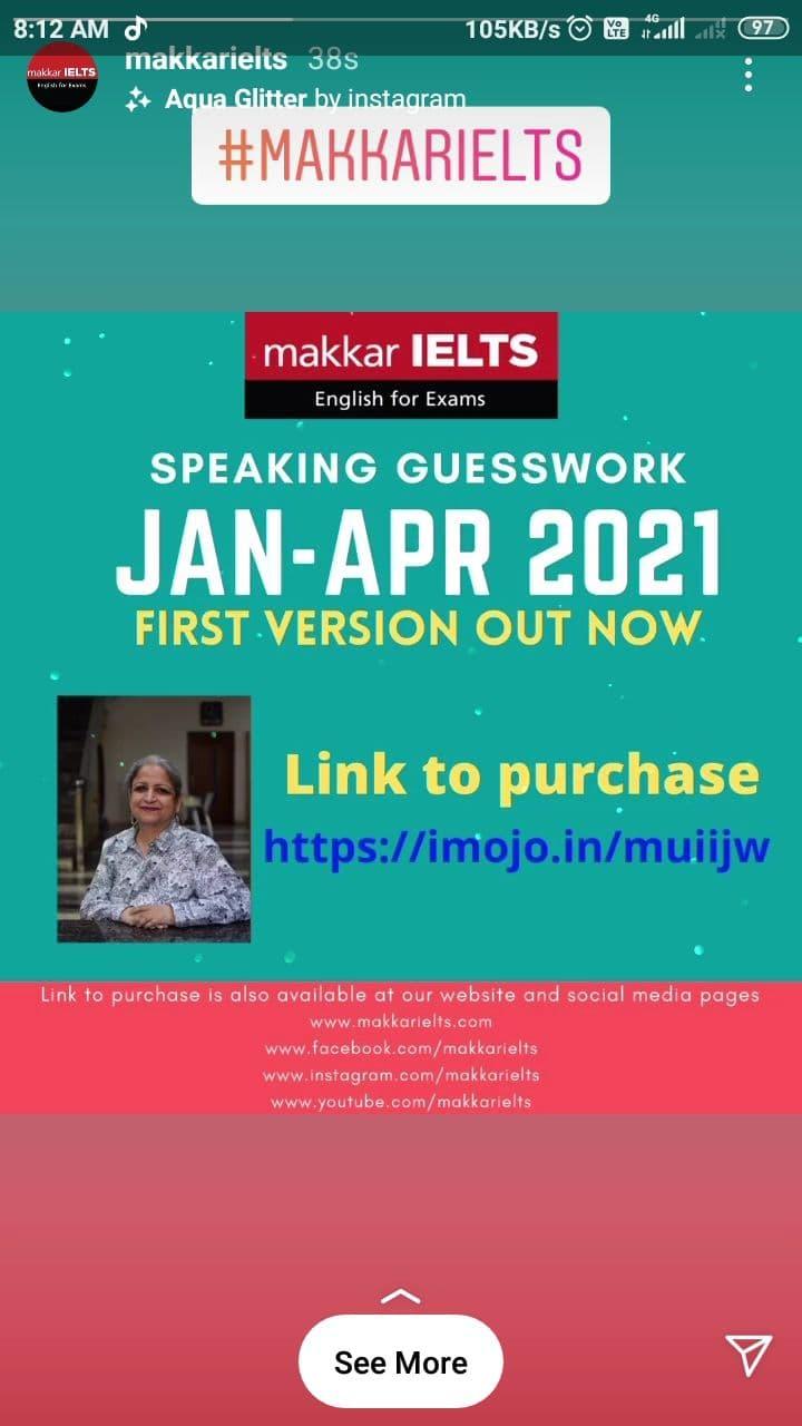 Makkar IELTS Latest  speaking guesswork download